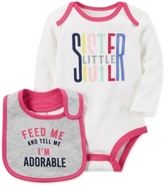 Carter's 2-Pc. Little Sister Cotton Bodysuit & Bib Set, Baby Girls (0-24 months)
