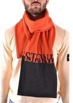Stone Island Men's Orange Wool Scarf.
