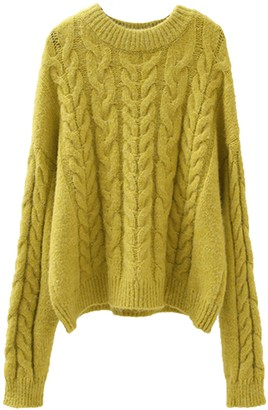 Goodnight Macaroon 'Lyanna' Crewneck Cable Knit Sweater (4 Colors)