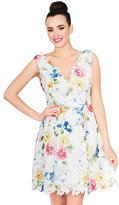 Betsey Johnson Painterly Floral Dress