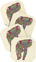 DENY Designs Sharon Turner Peace Elephant Coaster - Set of 4