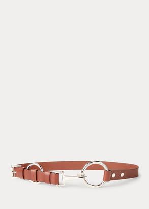 Ralph Lauren Double-O-Ring Leather Belt