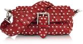 RED Valentino Genuine Leather Studded Shoulder Bag