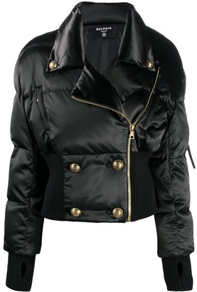 Balmain Double-Breasted Cropped Puffer Jacket