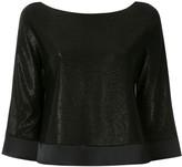 Emporio Armani shiny boat neck blouse