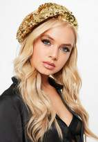 Missguided Gold Sequin Beret
