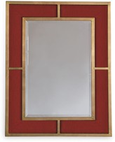 The Well Appointed House Bedford Gold Crimson Weave Mirror