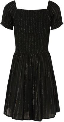 Monsoon Girls Storm Sparkle Puff Sleeve Dress - Black