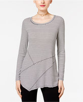 INC International Concepts Striped Asymmetrical Tunic, Only at Macy's