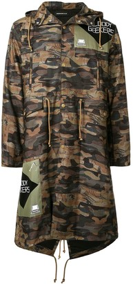 Undercover 'Bloody Geekers' camouflage raincoat