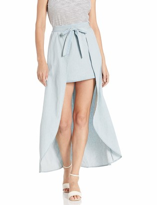 Jack by BB Dakota Women's sea Legs Washed Cotton Chambray Skort