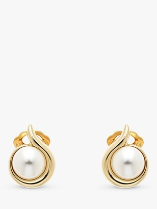 Emma Holland Faux Pearl Round Clip-On Stud Earrings