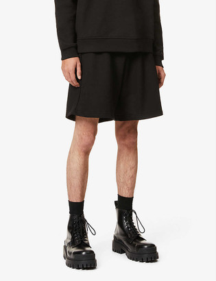 424 Branded cotton-jersey shorts