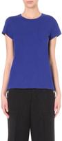 Sacai Ruffled-back cotton-blend t-shirt