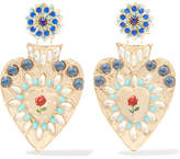 Mercedes Salazar Gold-plated Crystal Clip Earrings - One size