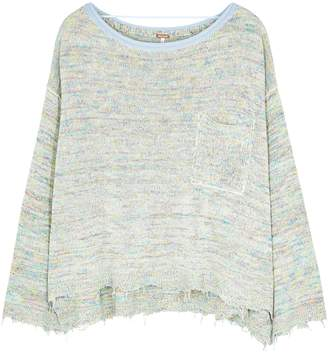 Free People Prism Space-dyed Cotton-blend Jumper