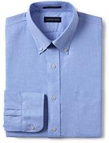 Classic Men's Tailored Fit Solid Supima No Iron Oxford-Light Sea Blue Multi Stripe