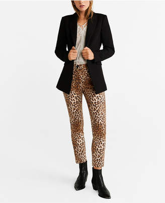 MANGO Animal Printed Trousers