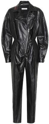 Philosophy di Lorenzo Serafini Faux leather jumpsuit