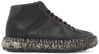 Maison Margiela Black Caviar High-Top Sneakers