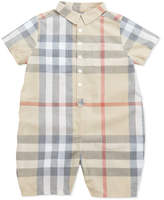 Burberry Kirk Infant Boys' Short-Sleeve Check Playsuit, 3-24 Months