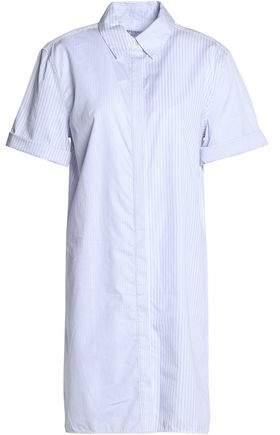 Equipment Mirelle Striped Cotton-Poplin Mini Shirt Dress