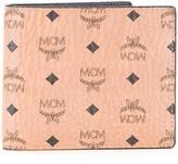 MCM logo print flat wallet