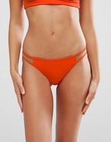 Asos Mix and Match Mesh Insert Brazilian Bikini Bottom