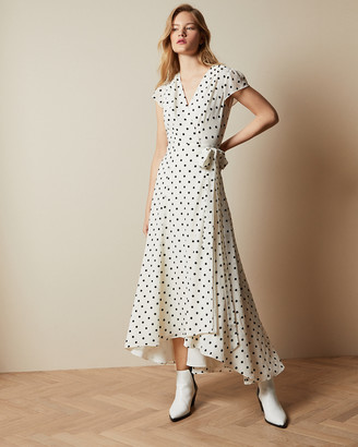 Ted Baker COHLINE Spotted dip hem maxi dress