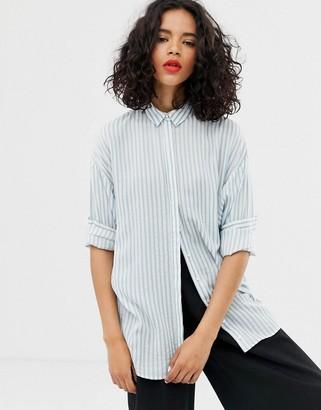 Gestuz Shay stripe loose shirt