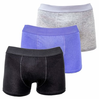 Mens Designer Boxers Men's Underwear Trunks Multipack By Tom Franks! Comfortable Cotton Boxer Shorts / Mens Trunks Underwear Set (3 Pack) Stretchy Classic Fit