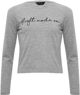 M&Co Teen slogan pyjama top