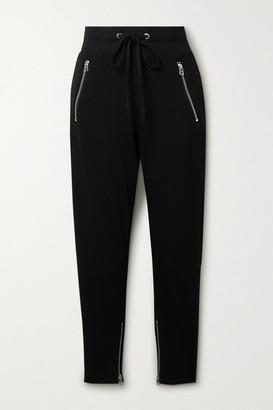The Range Alloy Ribbed Stretch-jersey Track Pants - Black
