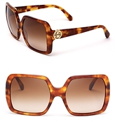 Modern Oversized Square Sunglasses