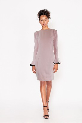 Paper Dolls Lanyon Pink Lace-Trim Mini Bodycon Dress
