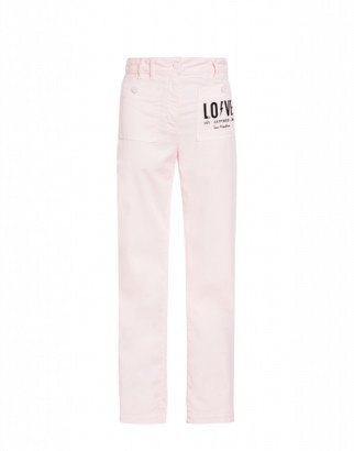 Love Moschino Stretch Gabardine Trousers Woman Pink Size 38 It - (4 Us)