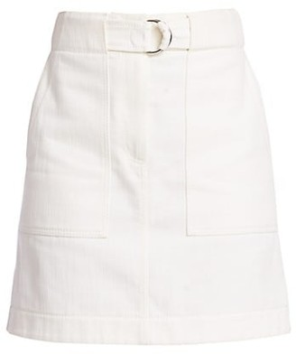 Akris Punto A-line Belted Cargo Skirt