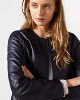 Jigsaw Edge To Edge Leather Jacket