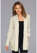 Dockers Long Sweater Cardigan (Silver Birch Multi) - Apparel