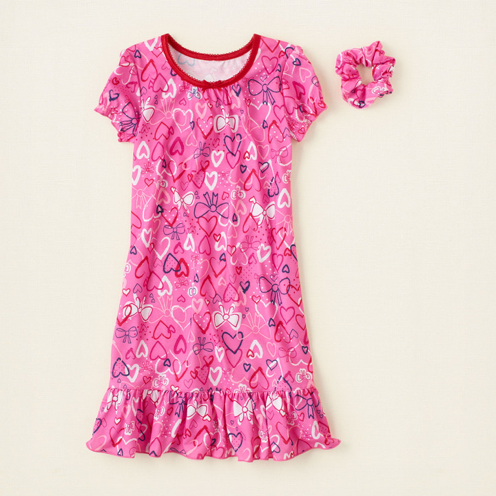 Children's Place Hearts 'n bows nightgown