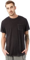 Alternative Raw Edge Smoked Wash Organic Pima Cotton Pocket T-Shirt
