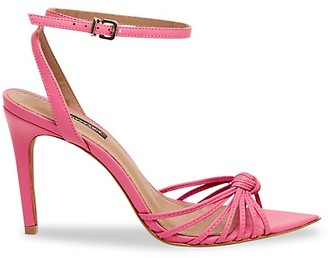 BCBGMAXAZRIA Delia Leather Ankle-Strap Sandals