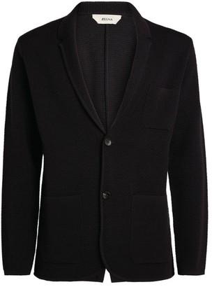 Ermenegildo Zegna Knitted Wool Blazer