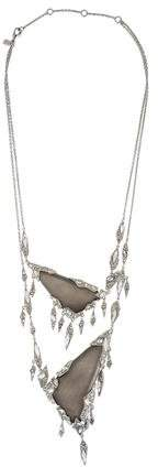 Alexis Bittar Glacial Cascading Encrusted Fringe Necklace