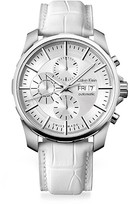 Calvin Klein Collection Alligator Strap Stainless Steel Automatic Chronograph Watch