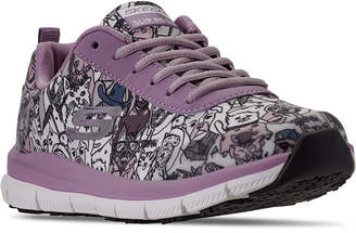 Skechers Women Relaxed Fit Comfort Flex Happy Tails Athletic Work Sneakers from Finish Line