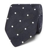 Drake's - Easyday 7cm Polka-dot Silk Tie
