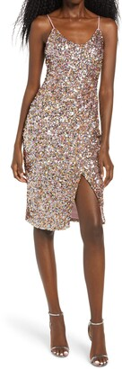 Black Halo Bowery Sequin Sleeveless Sheath Dress
