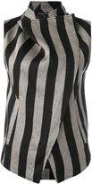 Ann Demeulemeester printed wrap jacket - women - Cotton/Linen/Flax/Polyester - 36