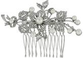 Nina Lagos Crystal Pearl Floral Comb Hair Accessories